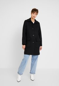 Esprit - WOOL COAT - Mantel - black - 1