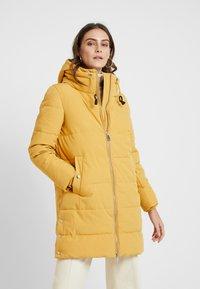 Esprit - PADDED COAT - Vinterkåpe / -frakk - amber yellow - 0