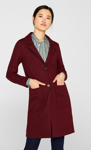 MIT WOLLE - Classic coat - garnet red