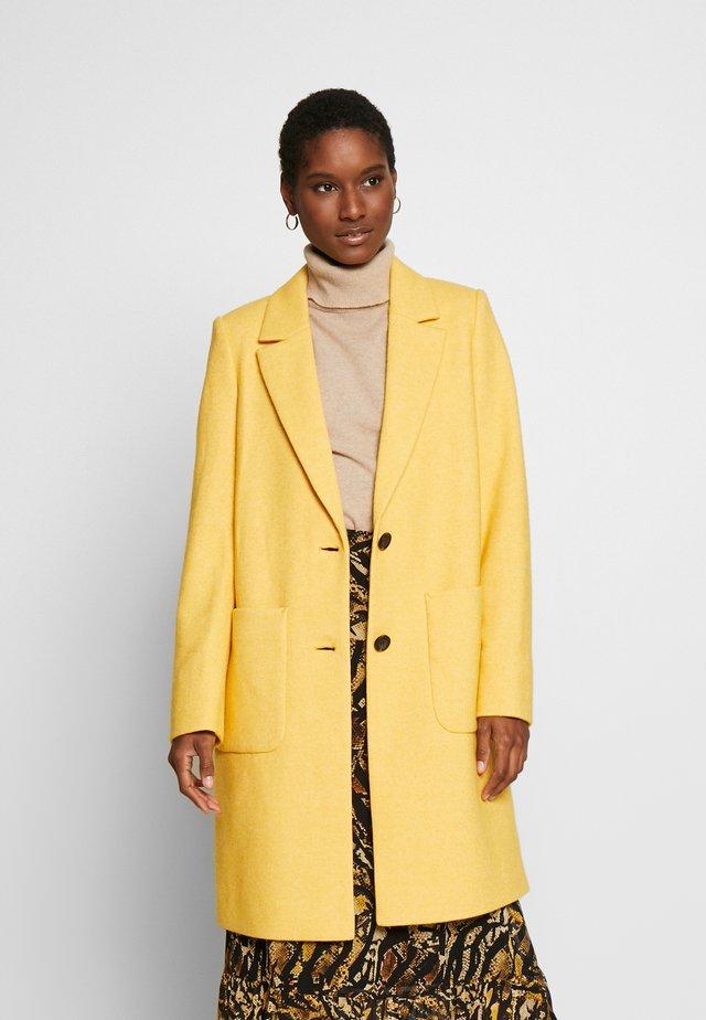 COAT - Classic coat - dusty yellow
