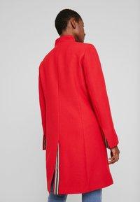 Esprit - PIQUET - Halflange jas - dark red - 2