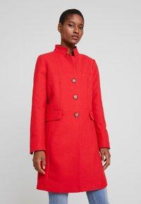 Esprit - PIQUET - Halflange jas - dark red - 0