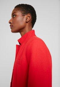 Esprit - PIQUET - Halflange jas - dark red - 4