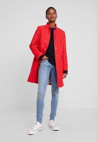 Esprit - PIQUET - Halflange jas - dark red - 1