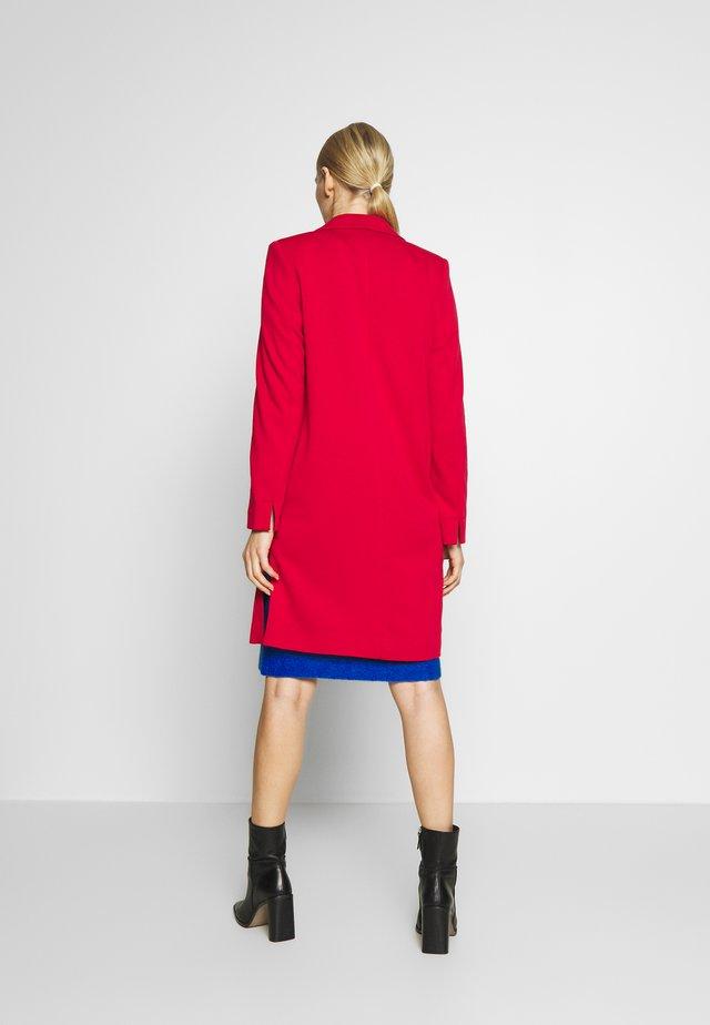 Płaszcz wełniany /Płaszcz klasyczny - dark red