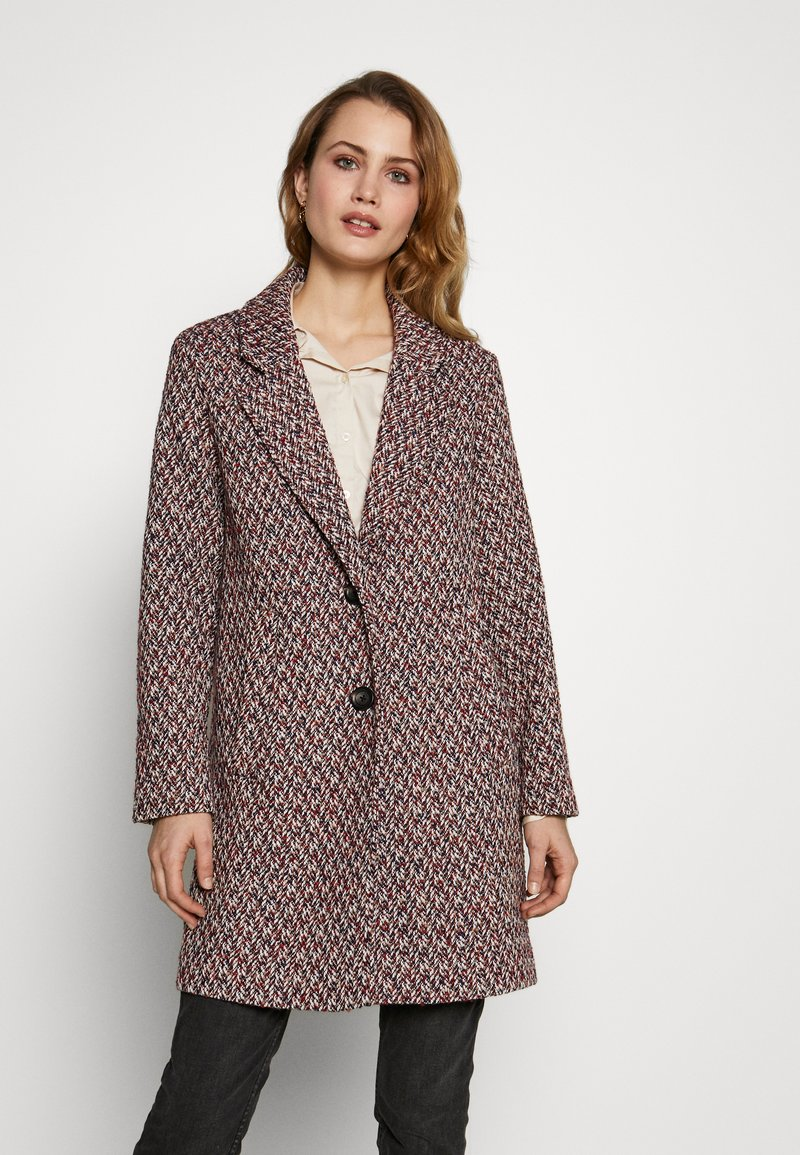 Esprit - STRUCTURE COAT - Płaszcz wełniany /Płaszcz klasyczny - dark blue