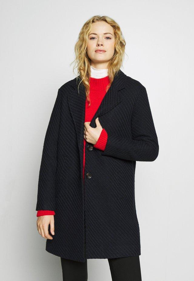 STRUCTURE COAT - Płaszcz wełniany /Płaszcz klasyczny - navy