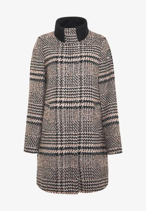 CHECK COAT - Classic coat - black