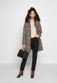 Esprit - CHECK COAT - Classic coat - black - 1