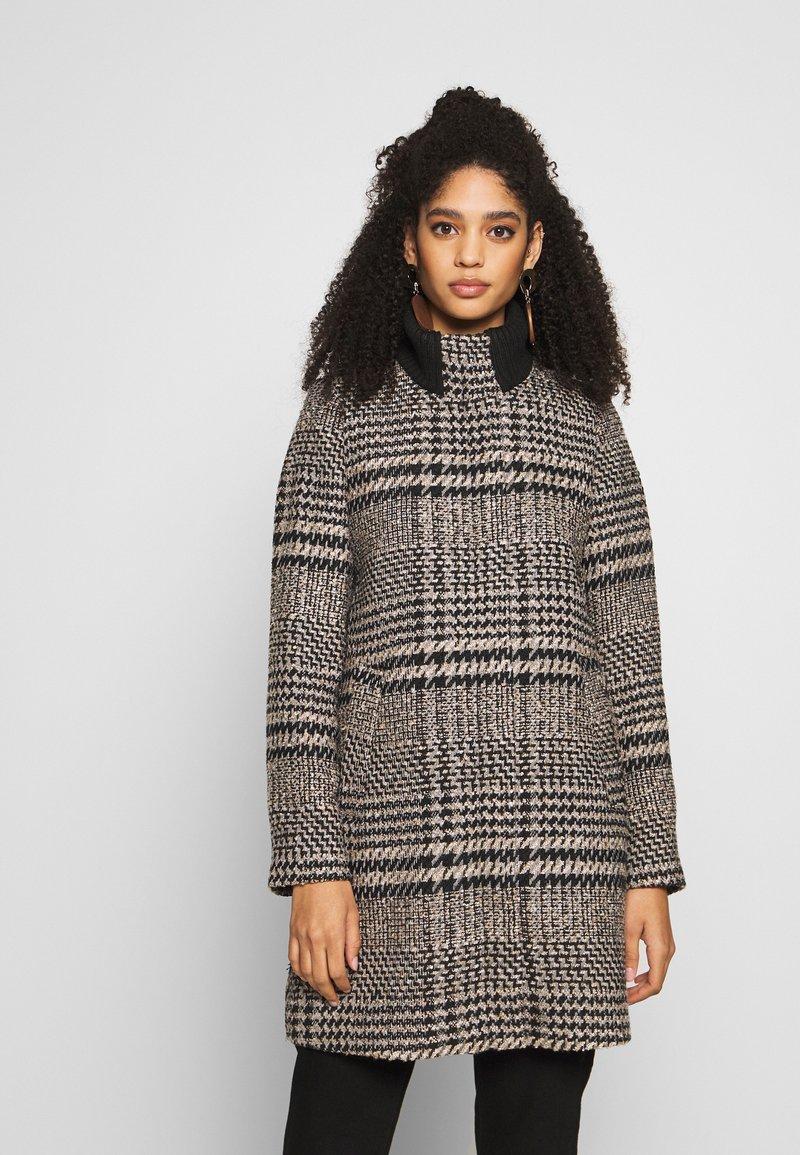 Esprit - CHECK COAT - Classic coat - black