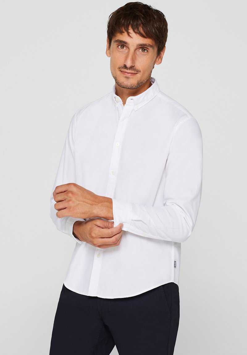 Esprit - MIT BUTTON-DOWN-KRAGEN - Shirt - white