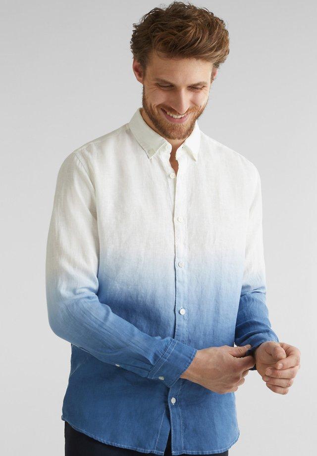 100% LEINEN: HEMD IM BATIK-LOOK - Skjorta - ink