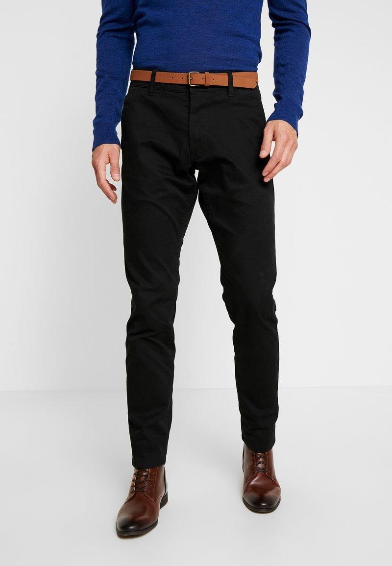 Esprit - Pantalones chinos - black