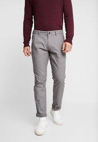 Esprit - CHECK - Spodnie materiałowe - grey - 0