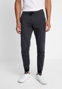 Esprit - LOGO - Pantalon de survêtement - dark grey - 0