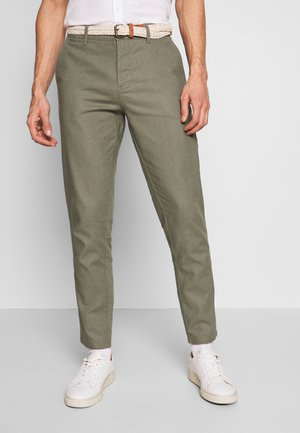 Trousers - dusty green
