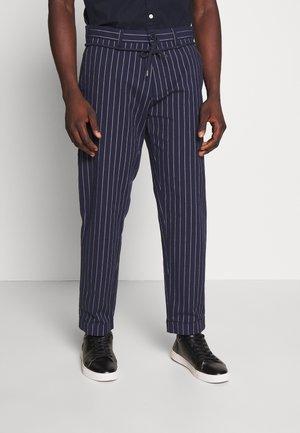 OXFORD STRIPE - Kalhoty - dark blue