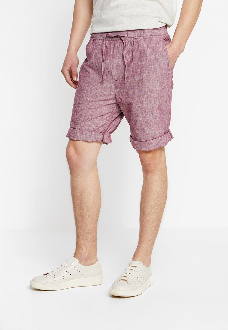 Esprit - PULLON CHAMBRAY - Shorts - bordeaux red