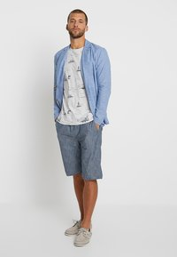 Esprit - PULLON CHAMBRAY - Shorts - navy - 1