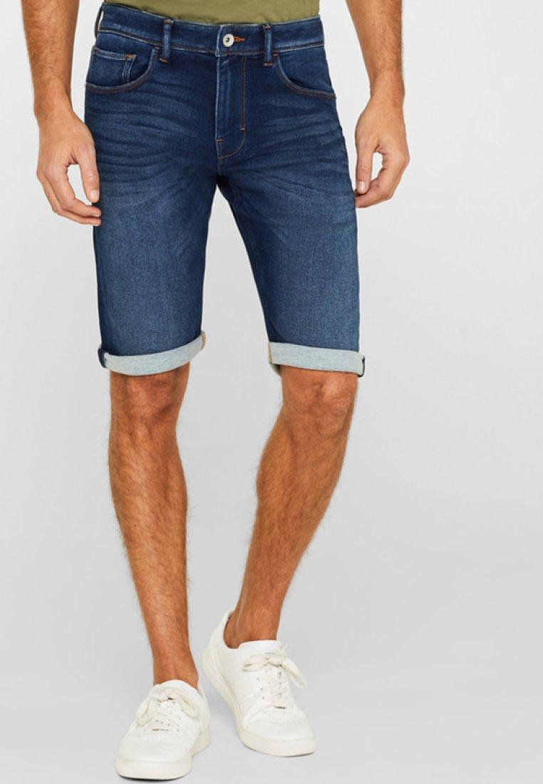 Esprit - Denim shorts - blue dark