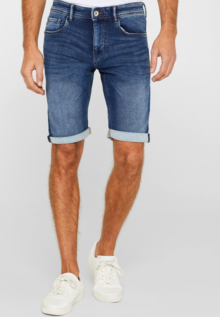 Esprit - Denim shorts - blue