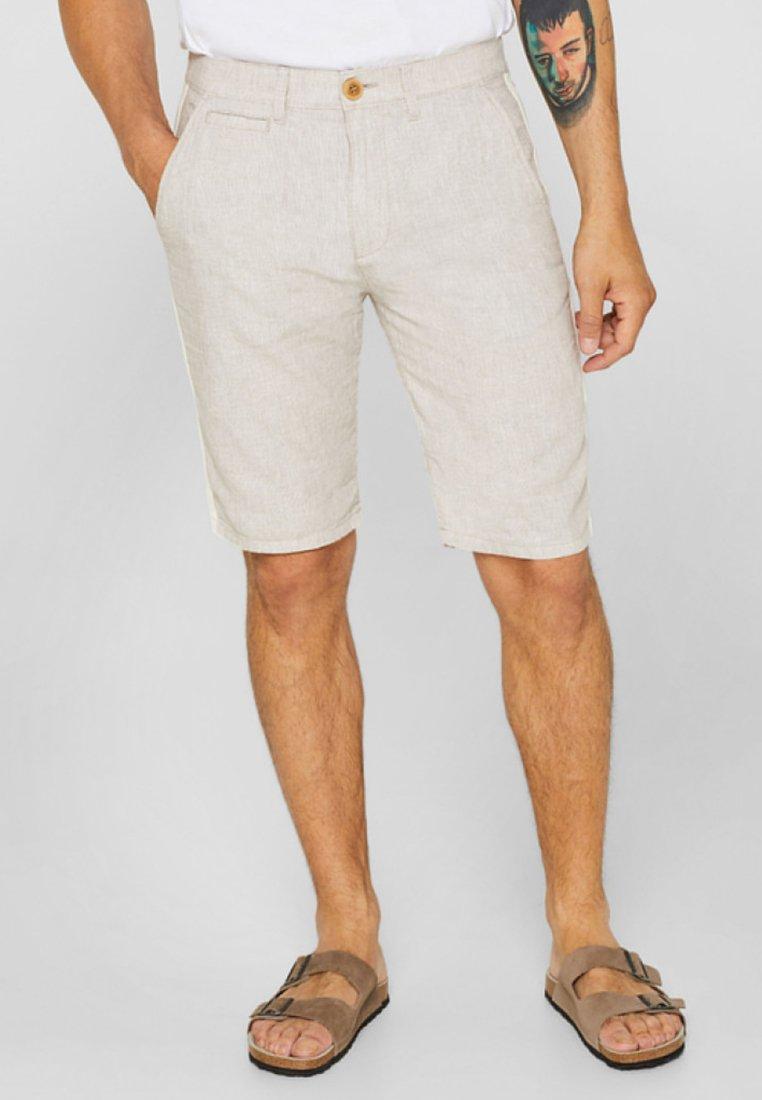 Esprit - MIT RACING-STREIFEN - Shorts - beige