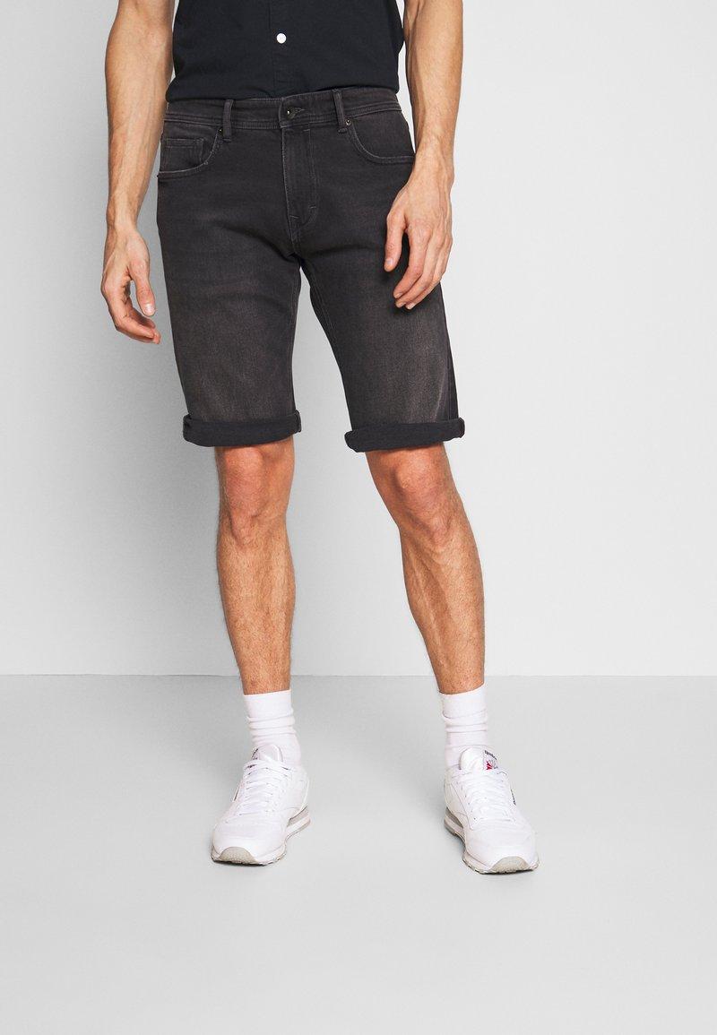 Esprit - Denim shorts - black medium wash