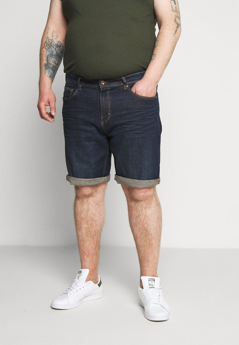 Esprit - BIG - Denim shorts - blue dark wash