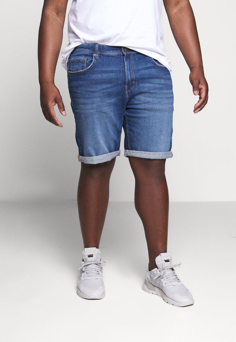 Esprit - BIG - Denim shorts - blue medium wash