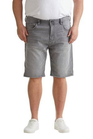 BIG - Szorty jeansowe - grey light washed