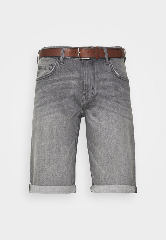 Jeansshort - grey light wash