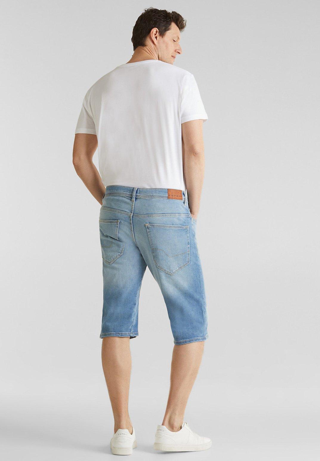 Esprit Bermuda-jeans Mit Washed Out-effekt - Jeansshorts Blue Light