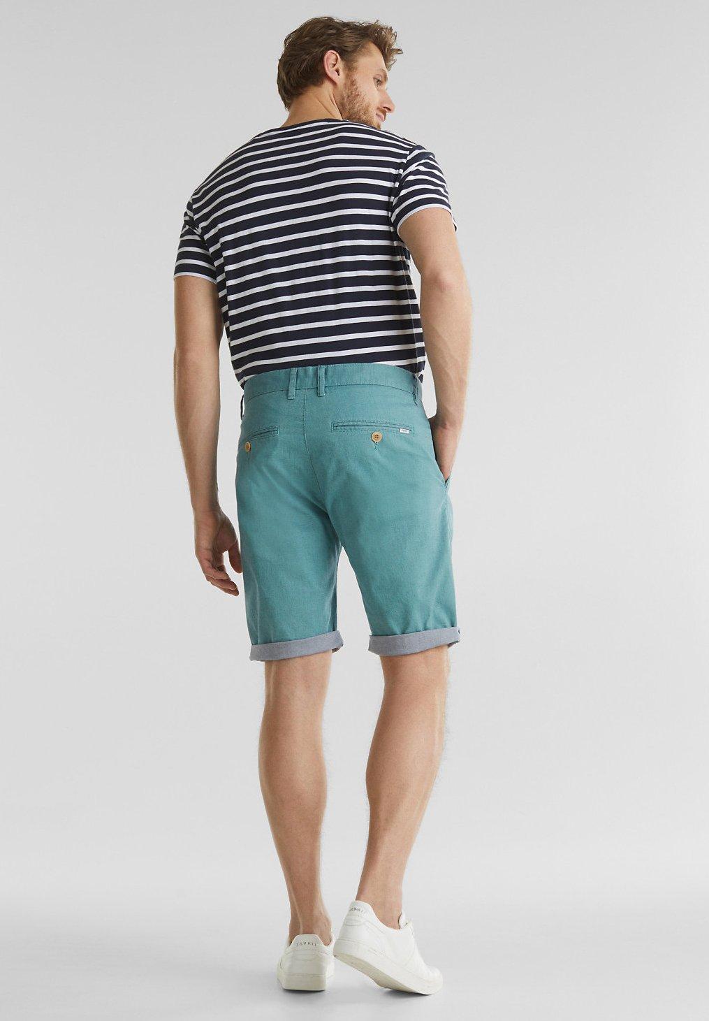 Esprit Mit Wasch-effekt - Shorts Teal Green