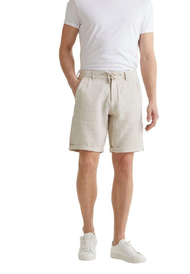 MIT KORDELZUG - Shorts - beige