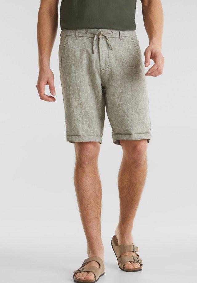 MIT KORDELZUG - Shorts - light khaki