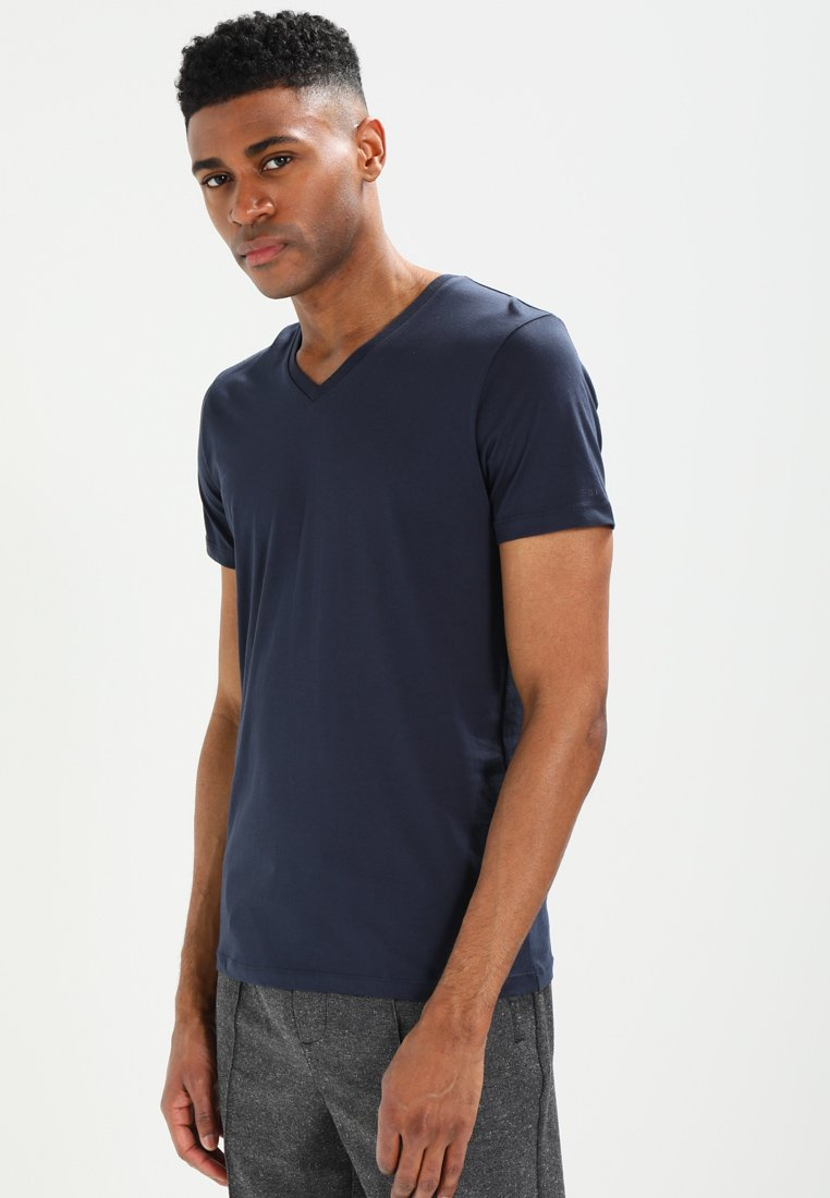 Esprit - V-NECK - T-Shirt basic - dark blue