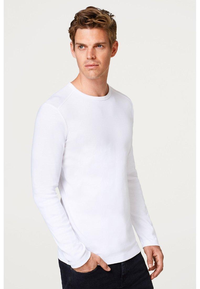 Esprit - BASIC - Top sdlouhým rukávem - white