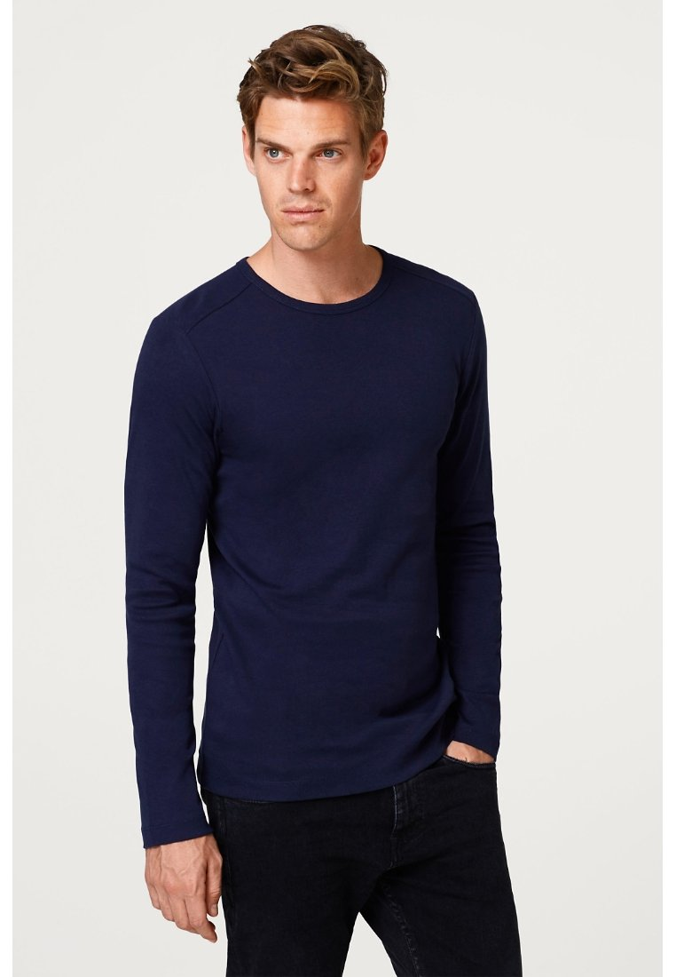 Esprit - BASIC - Camiseta de manga larga - navy