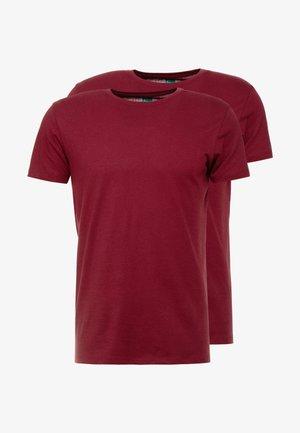 2 PACK - T-shirt basique - bordeaux red
