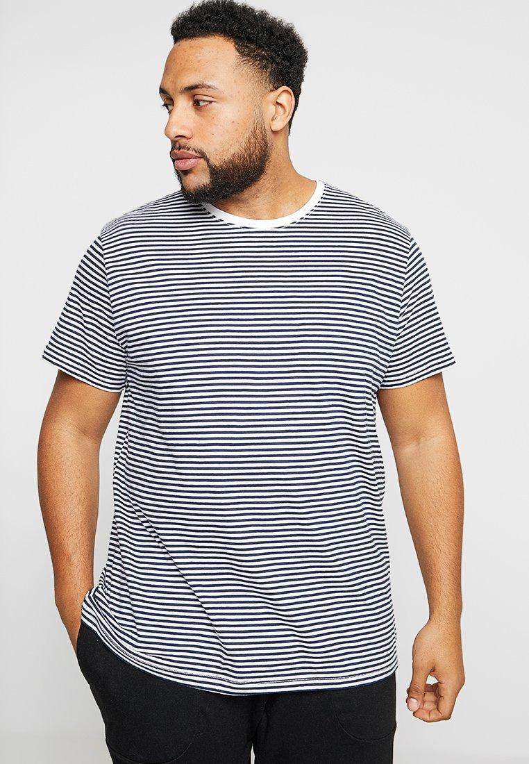 Esprit - BIG STRIP - T-Shirt print - white