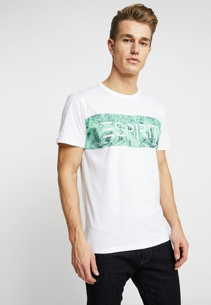 LOGO FLOWE  - T-shirt z nadrukiem - white