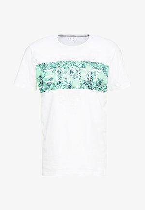 LOGO FLOWE  - T-shirt med print - white