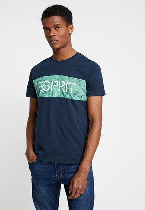 LOGO FLOWE  - T-shirt z nadrukiem - navy
