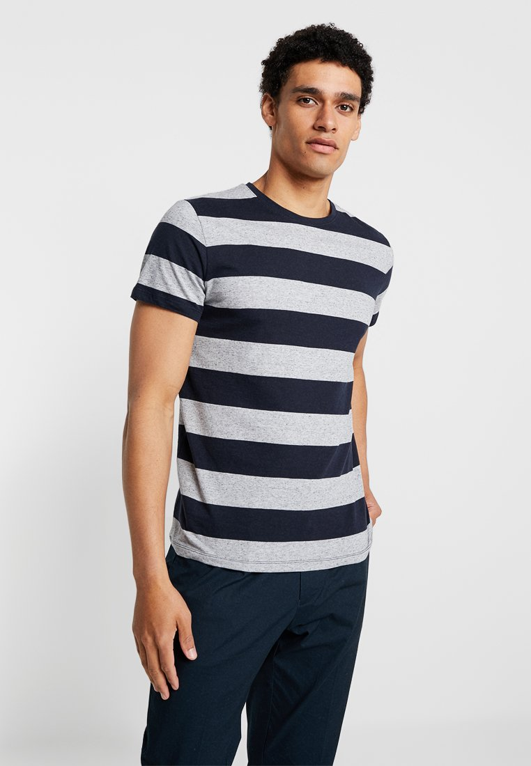 Esprit - STRIP - Print T-shirt - navy