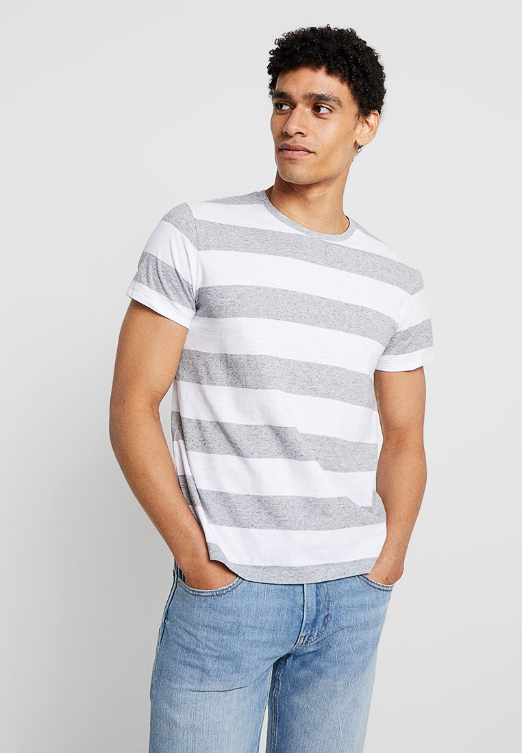 Esprit - STRIP - T-Shirt print - grey