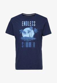 Esprit - FUN - T-shirt con stampa - navy - 4