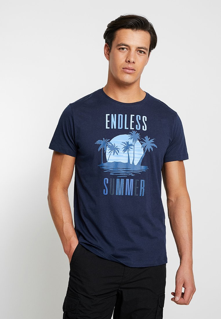 Esprit - FUN - T-Shirt print - navy