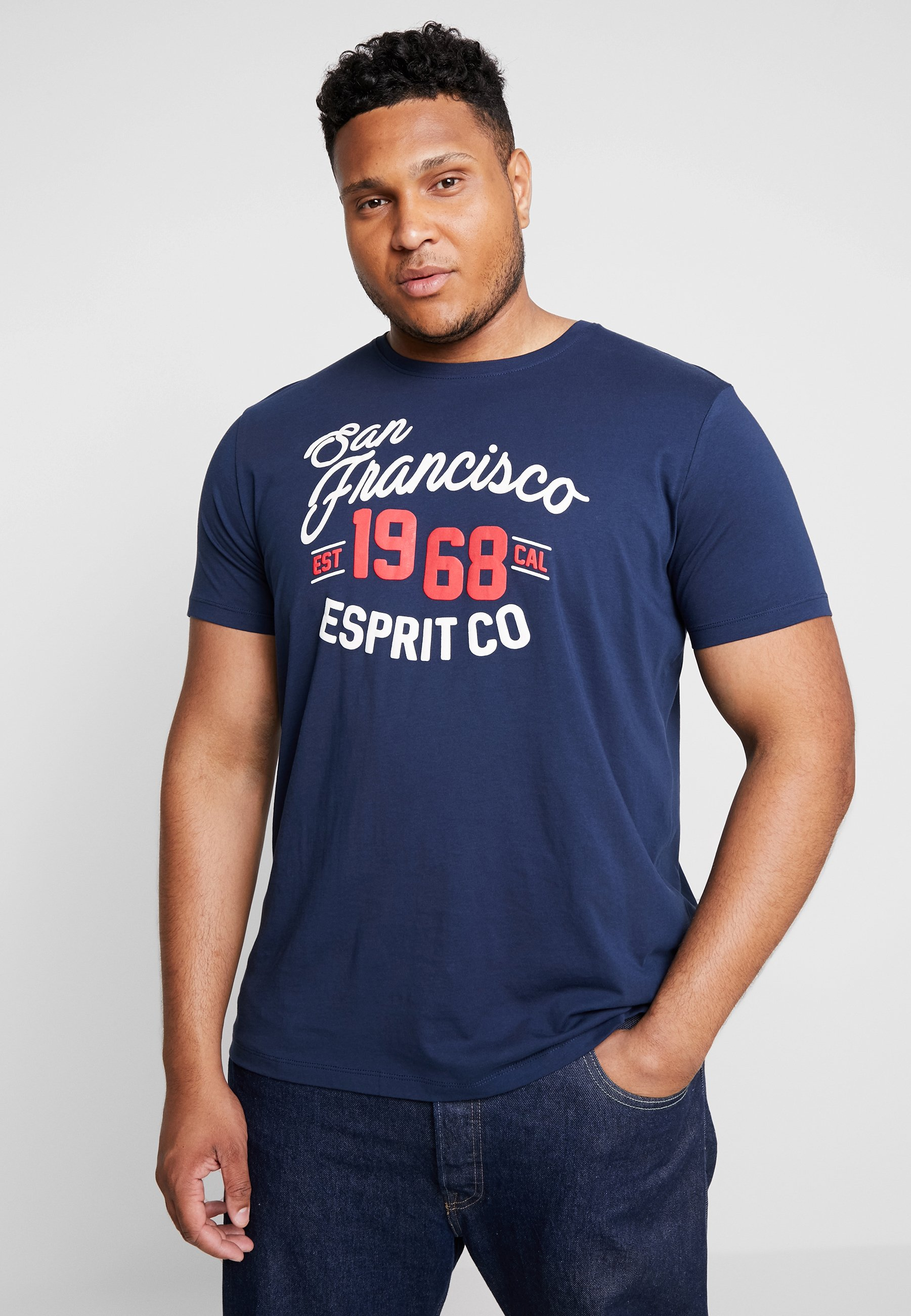 shirt Navy Imprimé Imprimé BigT Navy BigT shirt Esprit Esprit XiPTOZuk
