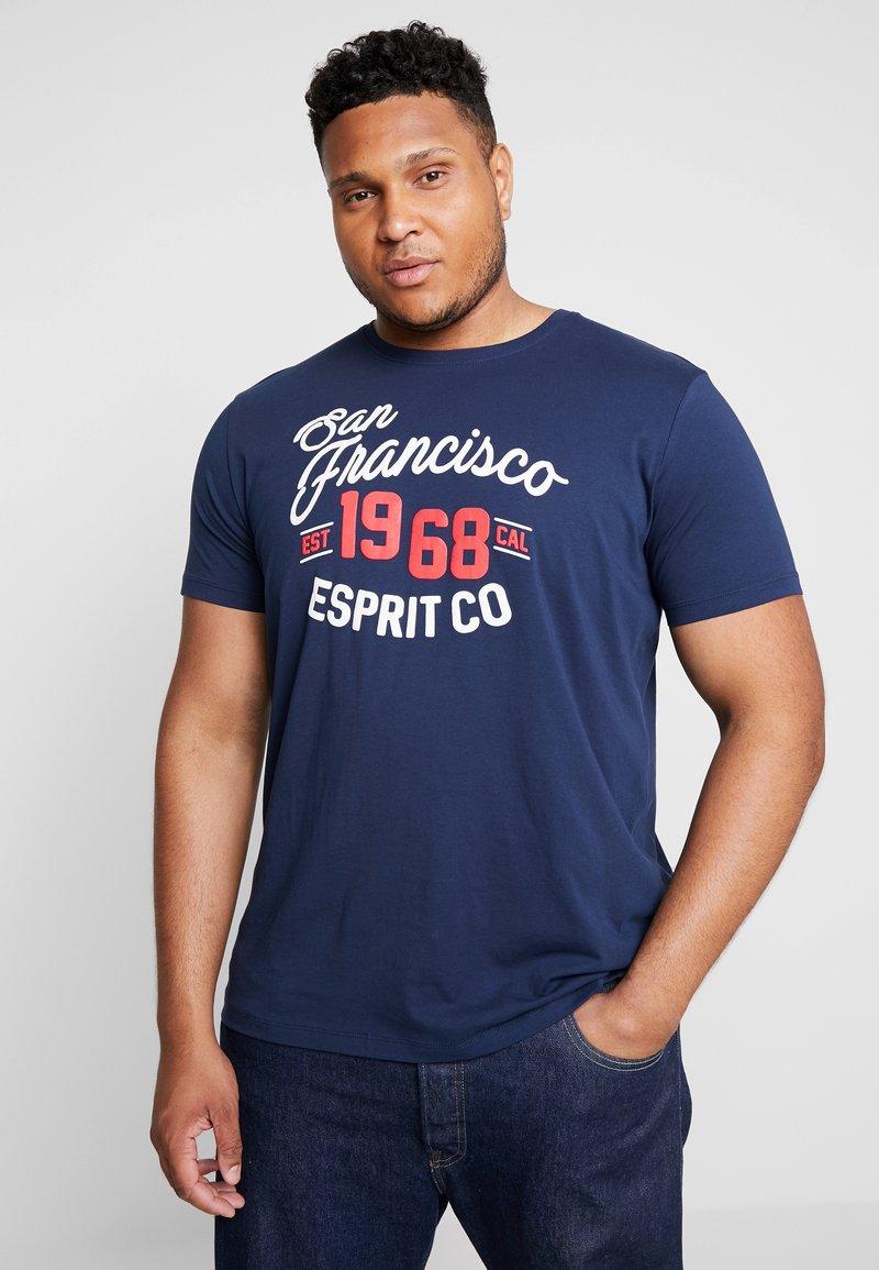 Esprit - BIG  - Print T-shirt - navy