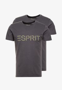 Esprit - ICON 2 PACK - T-shirt con stampa - anthracite - 3